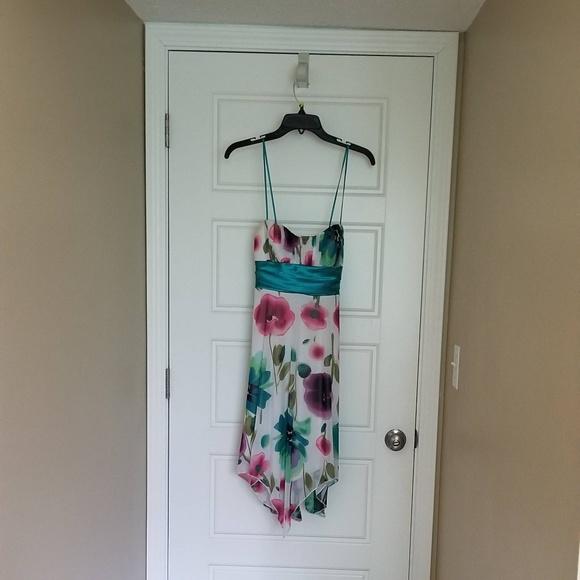 Speechless Dresses & Skirts - Asymmetrical Watercolor Print Dress